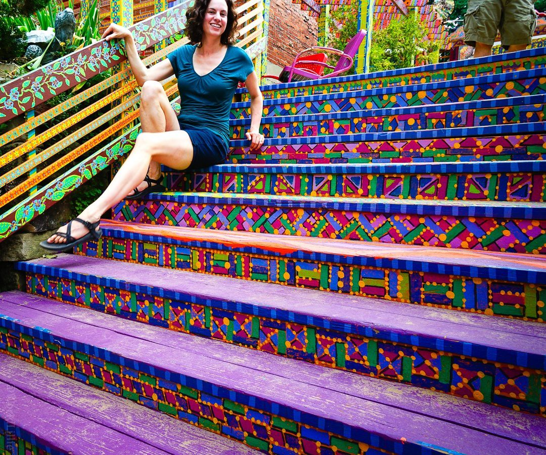 Randyland Pittsburgh stairs
