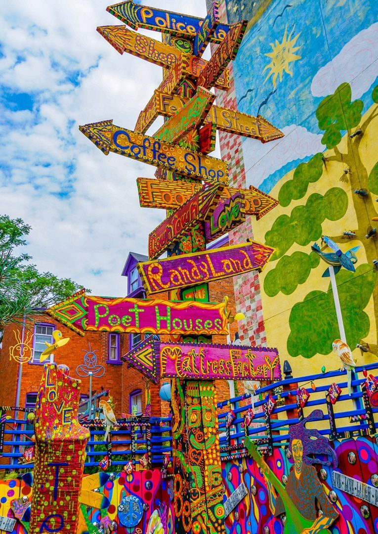 Fun places to go: Randyland Pittsburgh has colorful signs