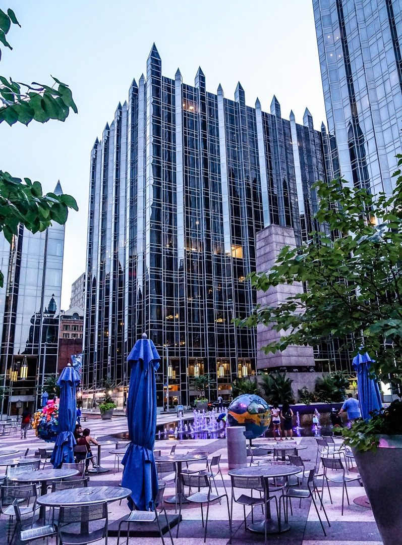 Fun places to go: Pittsburgh architecture and PPG Place spiky courtyard