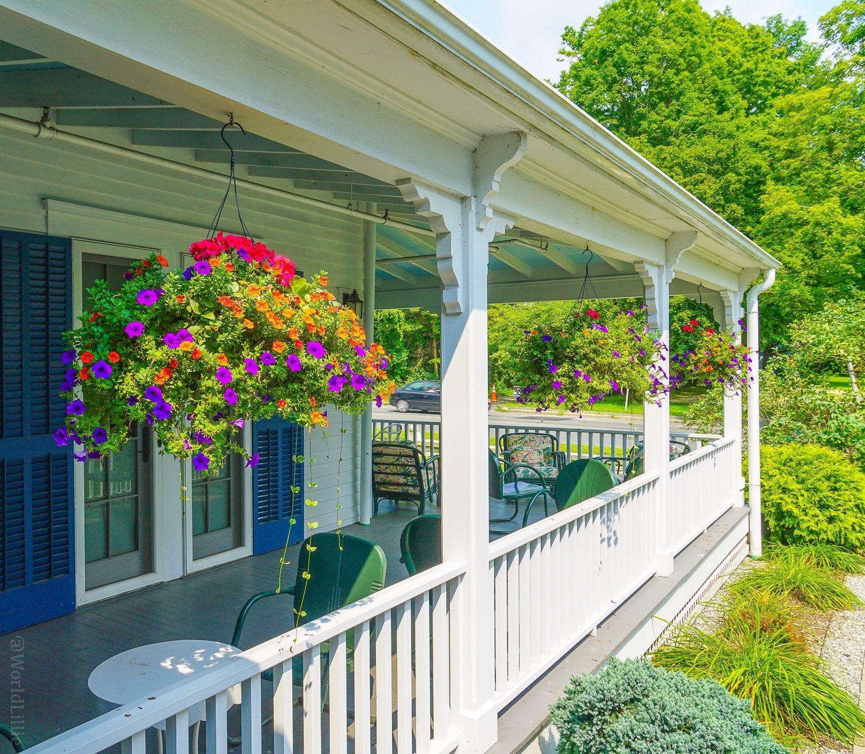 Red Lion Inn wraparound porches, Stockbridge, MA