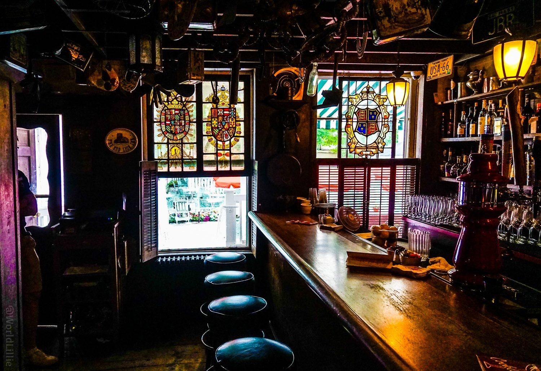 Historic tavern at the Red Lion Inn in Stockbridge, MA