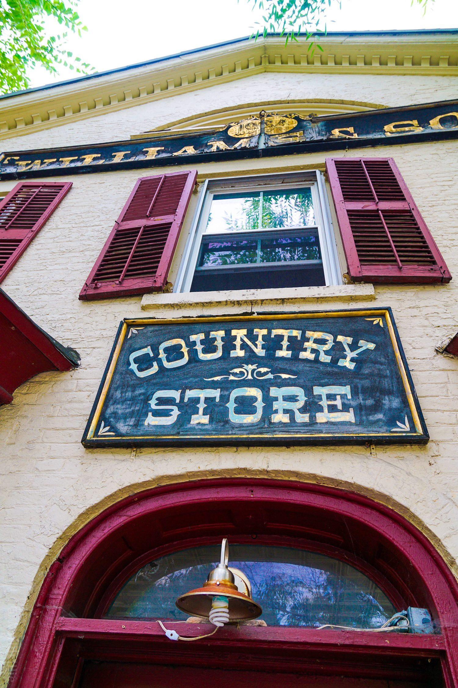 Country store in Stockbridge, Massachusetts in the Berkshires of Western MA
