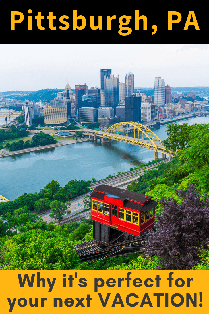 Pittsburgh, PA is my favorite pick for fun places to go this year! I LOVED the Pittsburgh rivers, hills, art, and food, plus Laurel Highlands and Fallingwater. #travel #familytravel #Pittsburgh #vacation #vacationideas #pennsylvania