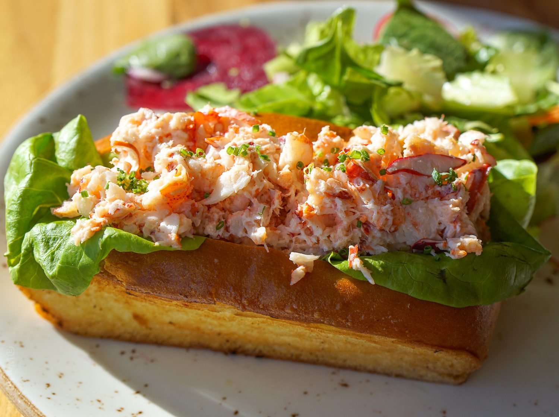 Lobster Roll Sea Glass Restaurant Inn by the Sea Maine Resort