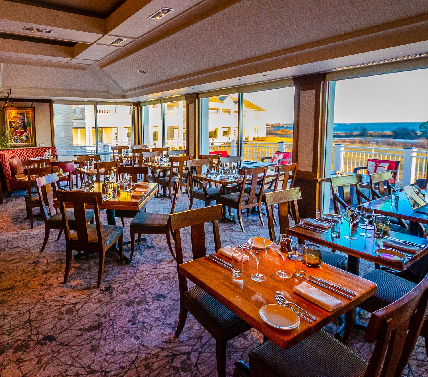 Inn by the Sea Maine Resort: Sea Glass Restaurant with an ocean view