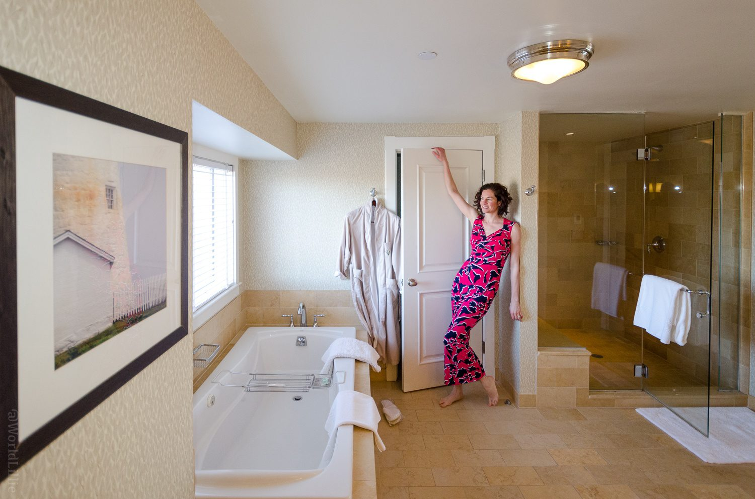 Luxury hotel bathroom: Inn by the Sea Maine Resort