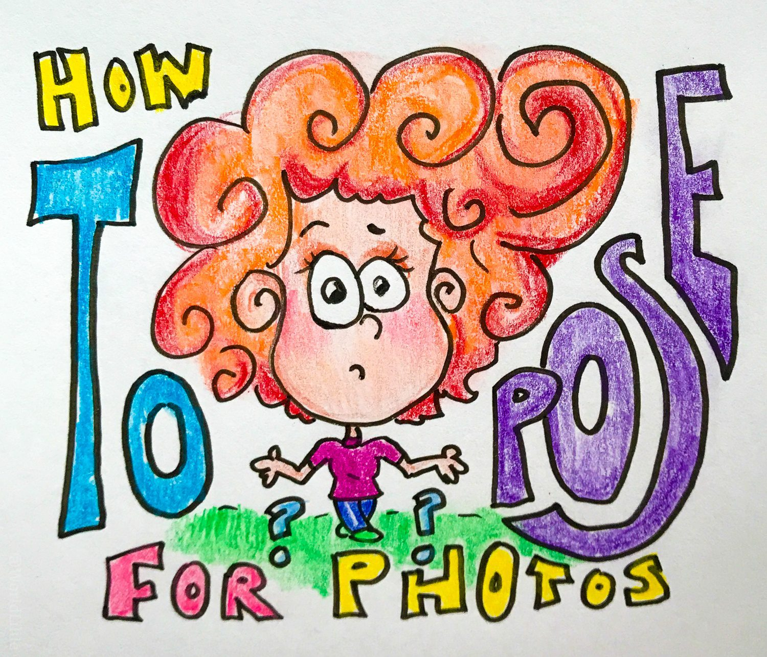 How to pose for pictures cartoon