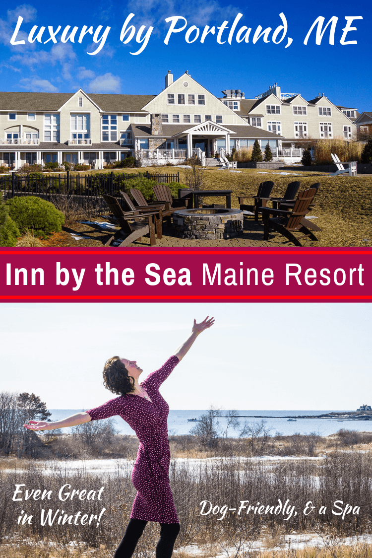 Inn by the Sea Maine resort is a romantic, dog-friendly luxury hotel near Portland, ME with a spa, fireplaces, great food, and an ocean view on Cape Elizabeth. #maine #portland #romanticgetaway #resorts #hotels