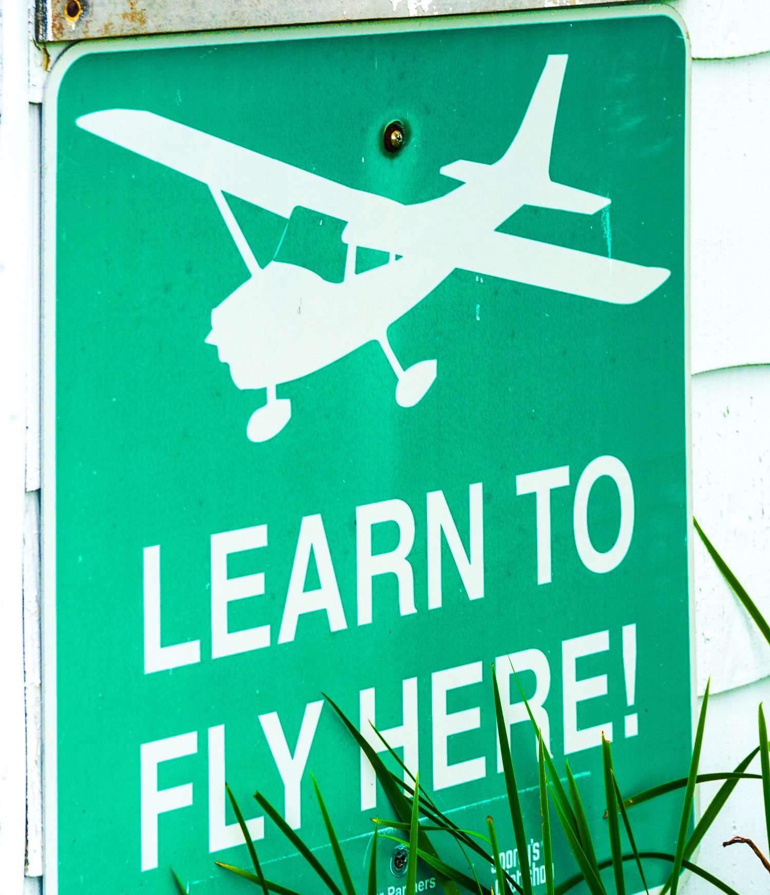 Learn to fly sign from Great Barrington Airport