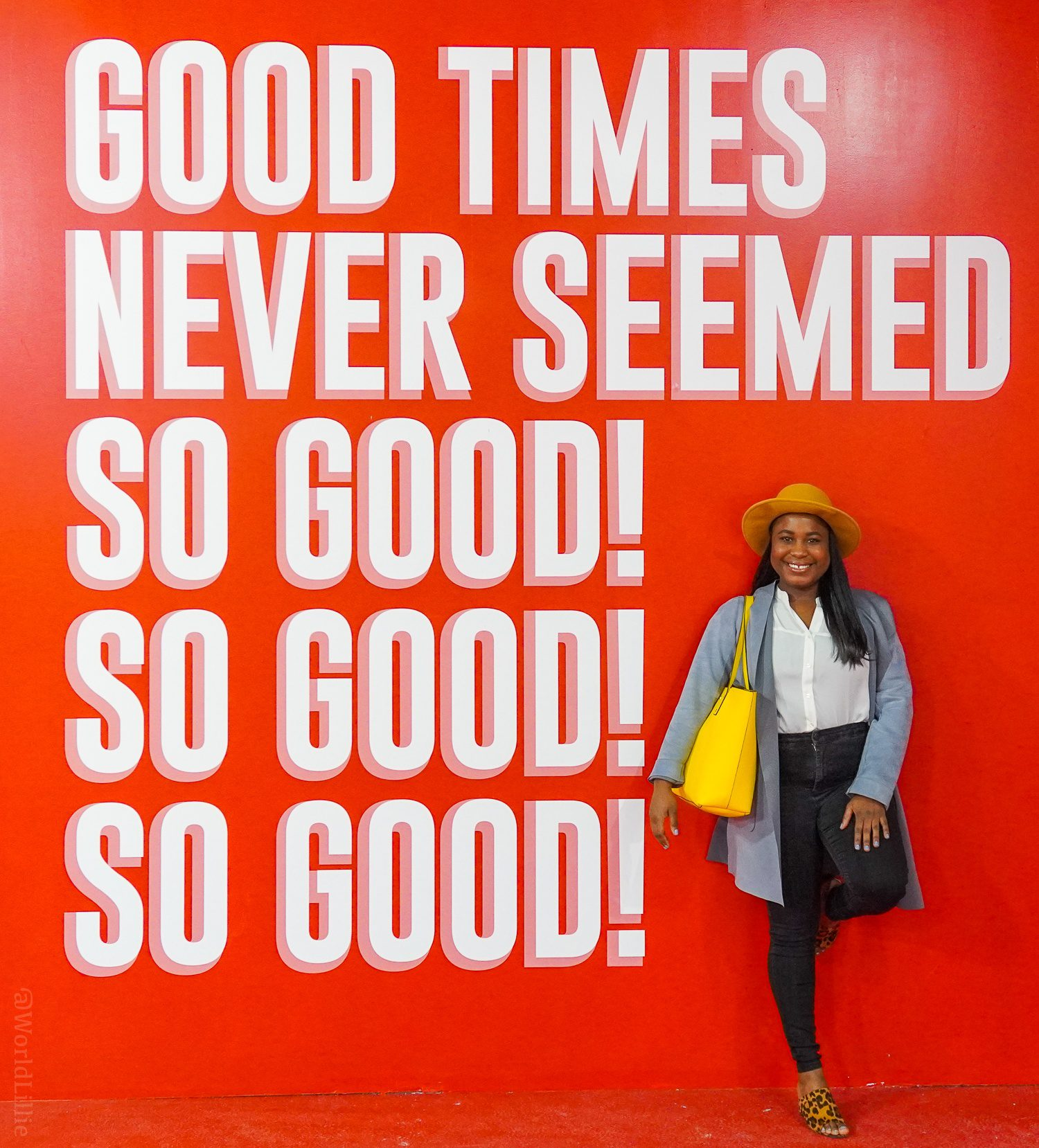 Good times never seemed so good wall sign at Happy Place Boston