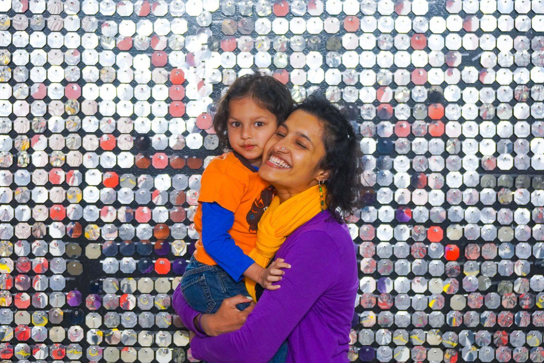 Disco ball walls make you feel like a celebrity.