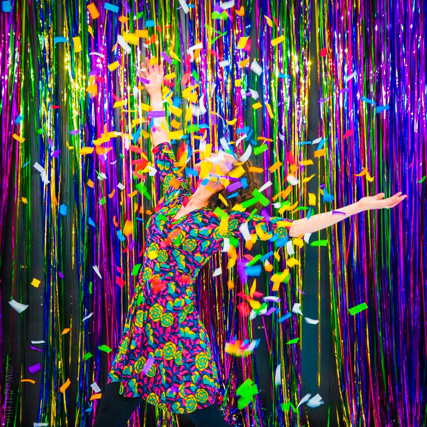 I loved playing in the sparkly confetti, and it matched my dress!