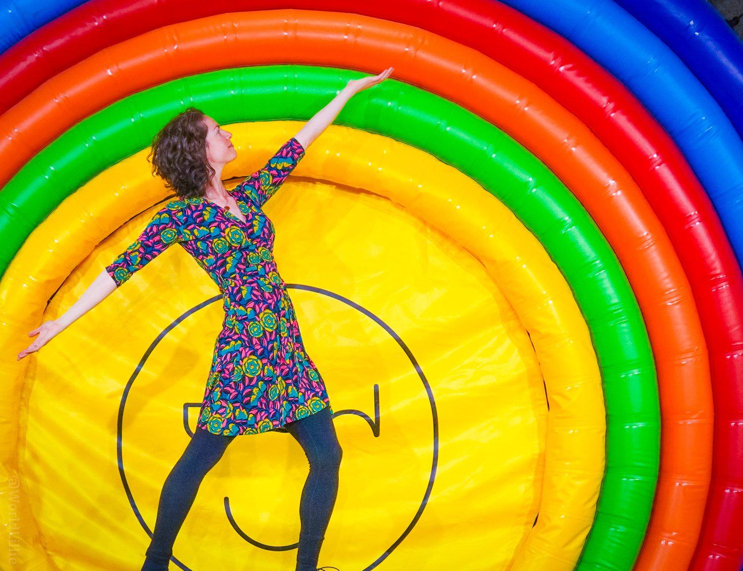 The iconic Happy Place bouncy rainbow.