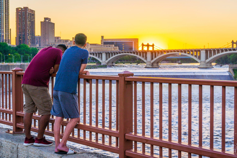 Mississippi River sunset, Minneapolis