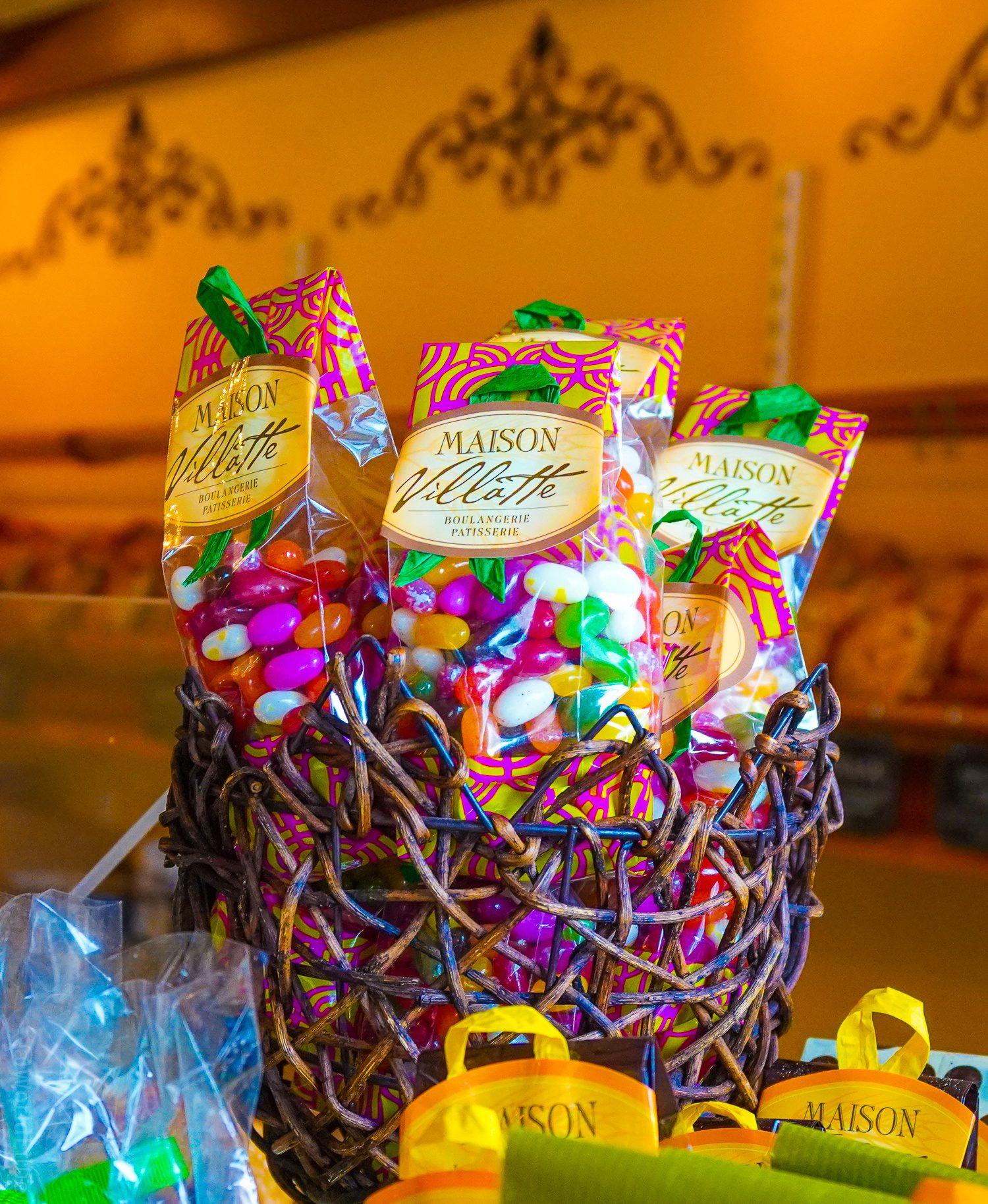 A jolly jelly bean basket at Maison Villatte.