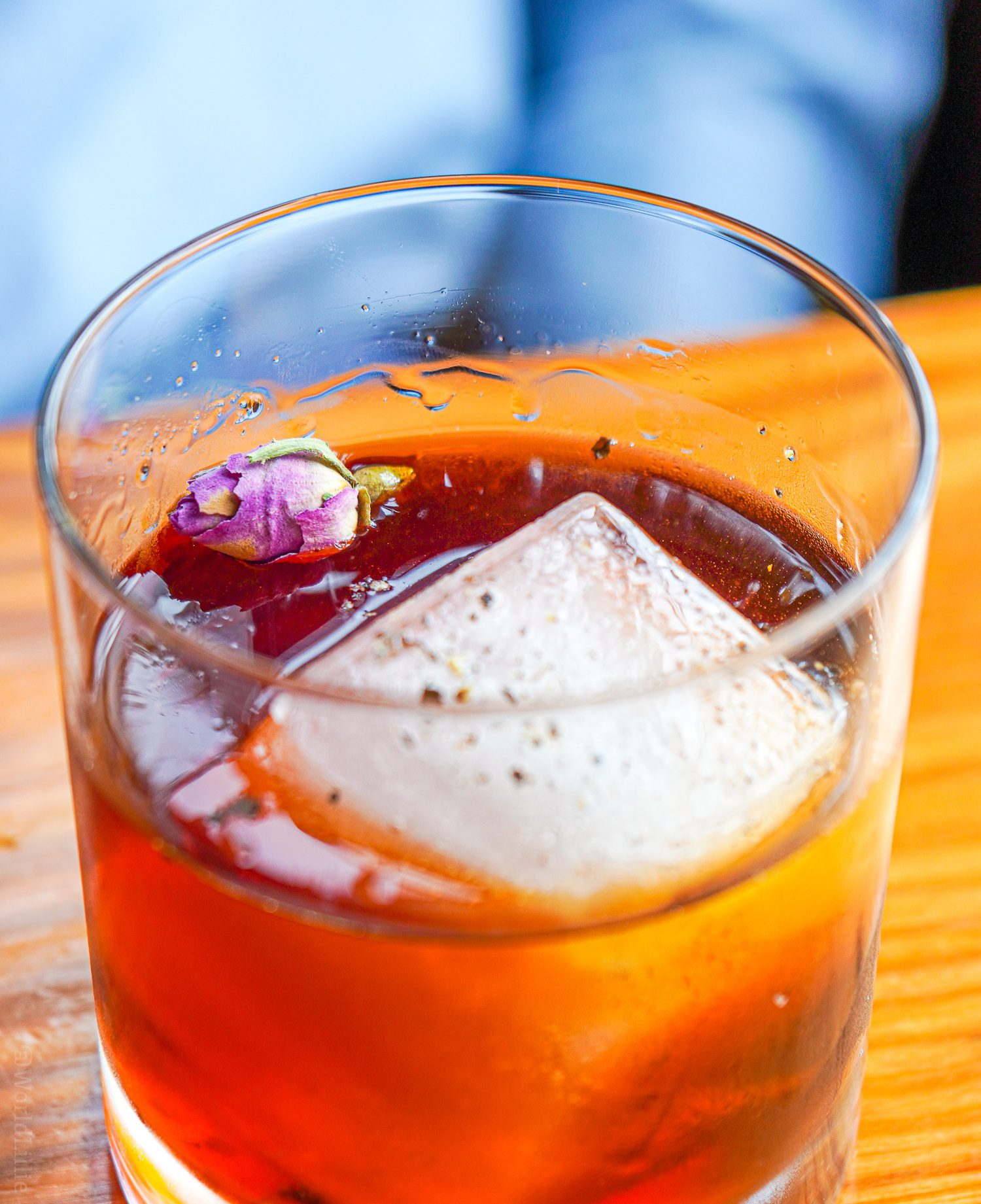 A hibiscus drink with black pepper at Water Street Kitchen.