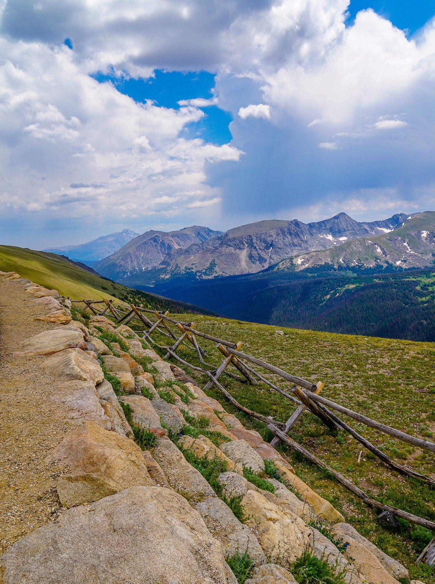 Trail Ridge Road in Rocky Mountain National Park, Colorado.