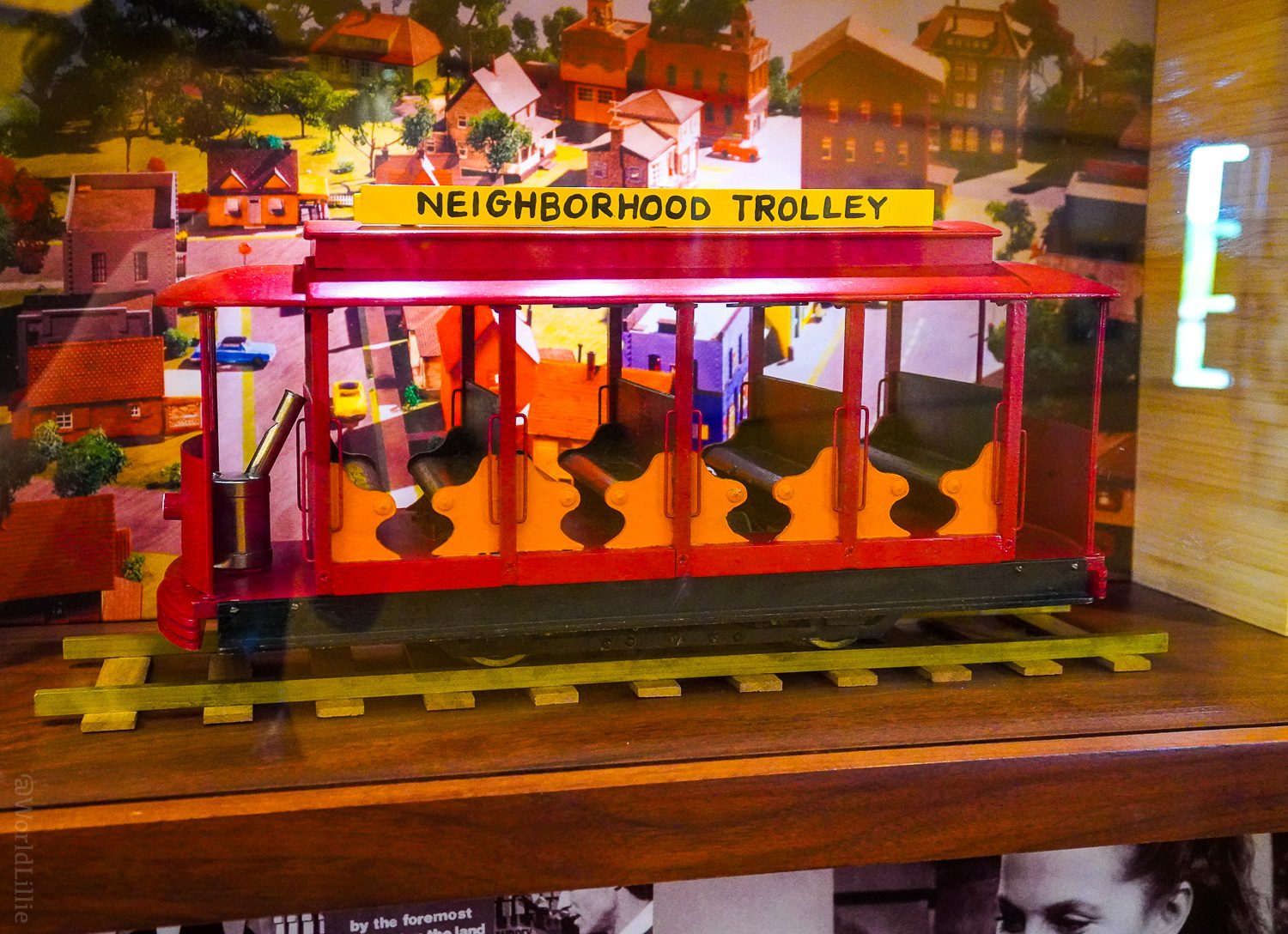 A close-up of the Neighborhood Trolley.