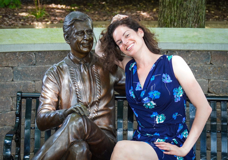 Fred Rogers statue Latrobe, PA