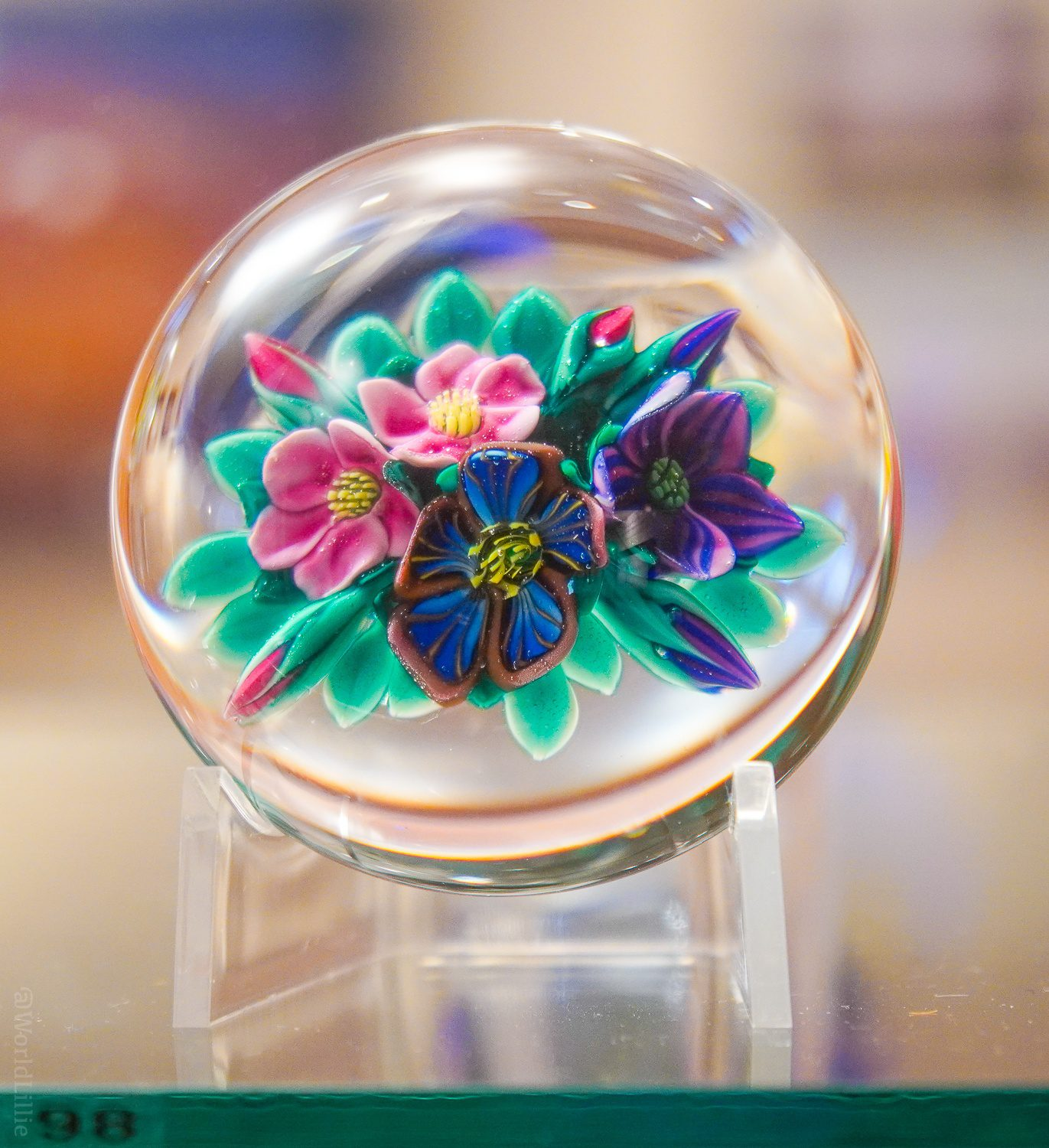 Perfect flower paperweight