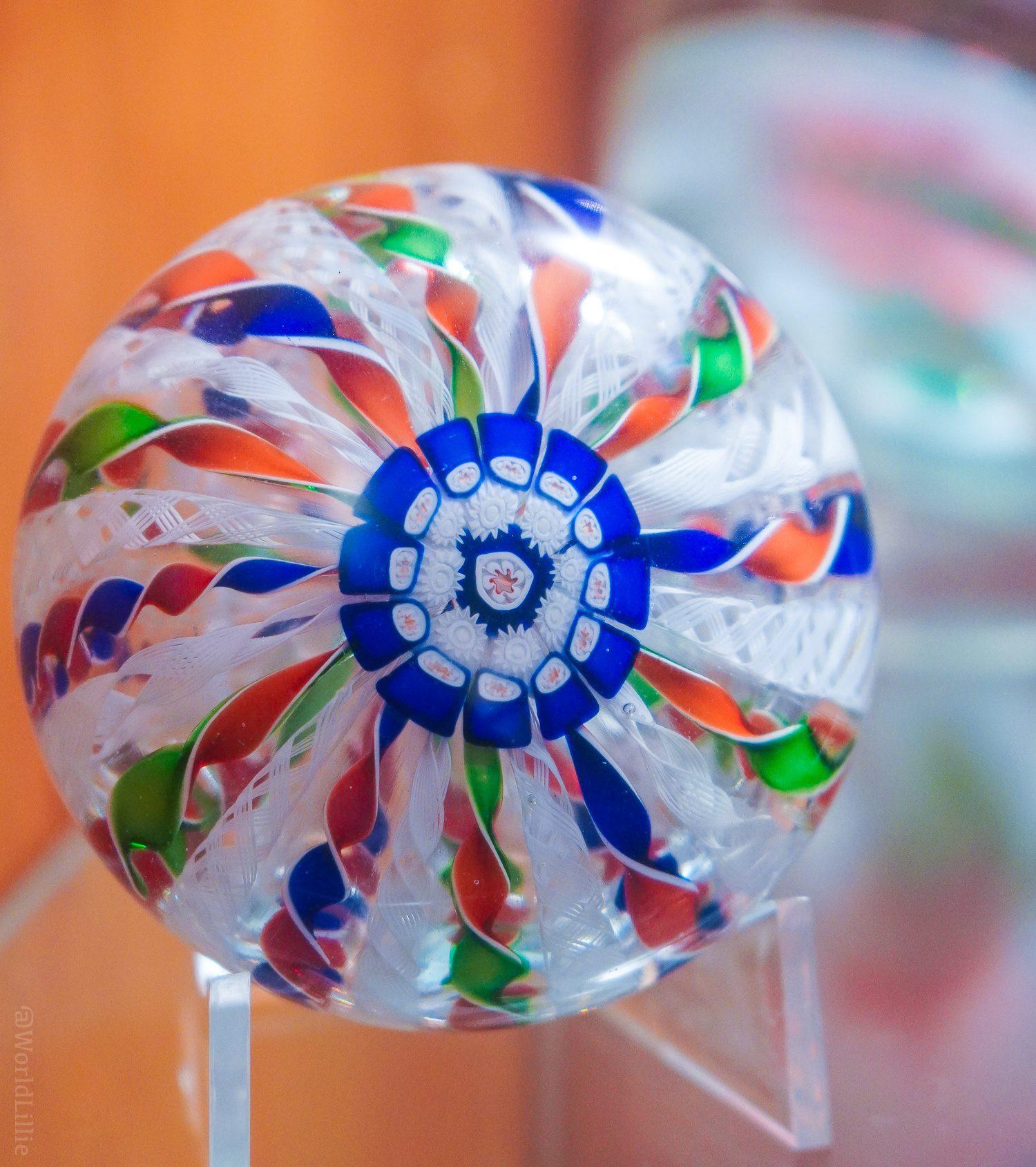 Eyeball glass paperweight