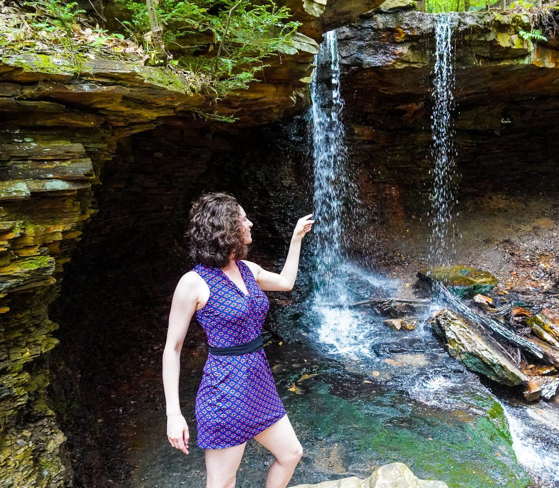 Adam Falls Linn Run State Park waterfall