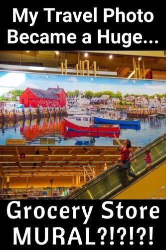 Wegmans Natick MA mural boats Rockport