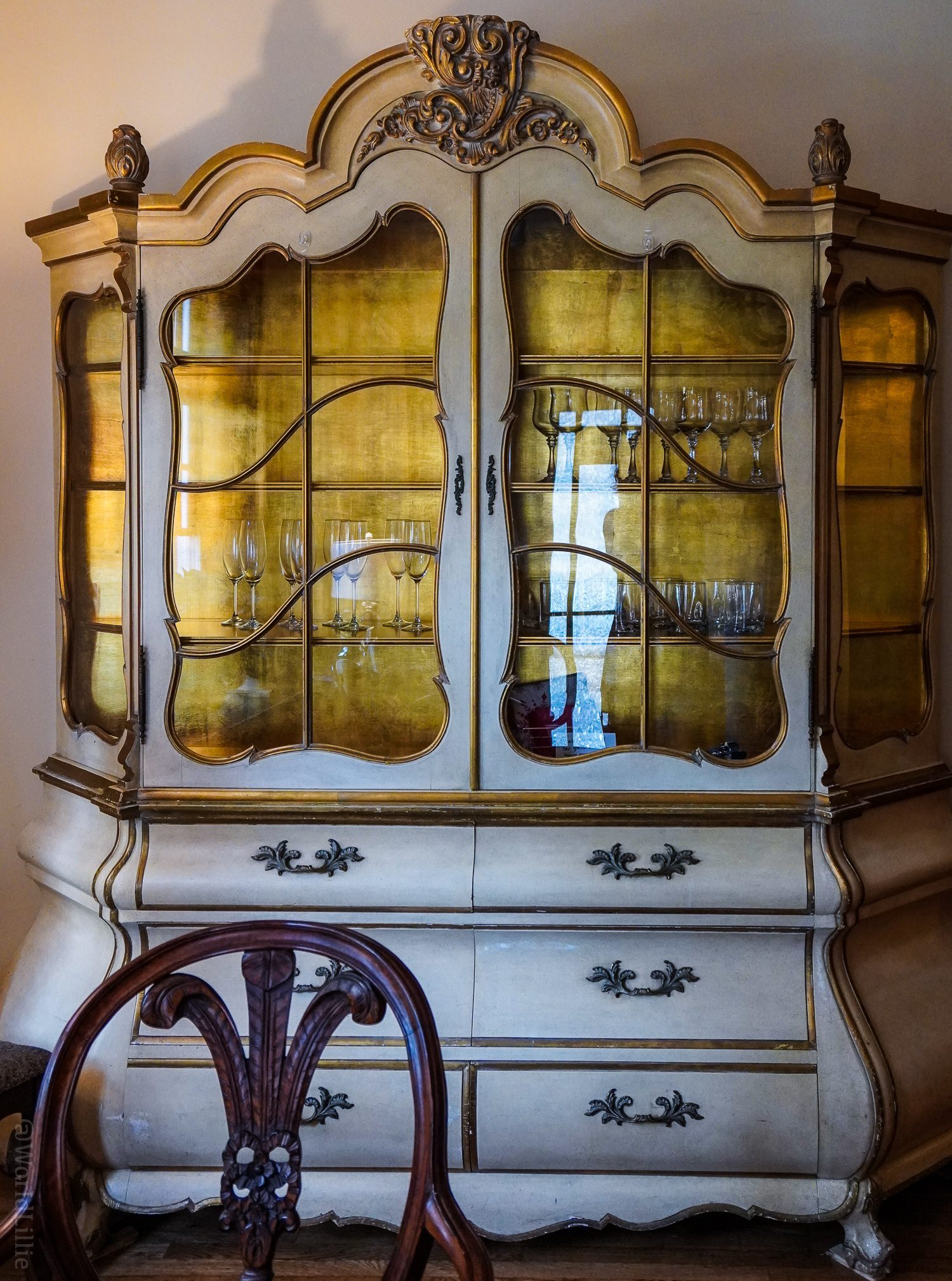 A magical looking piece of furniture in the central sitting room.