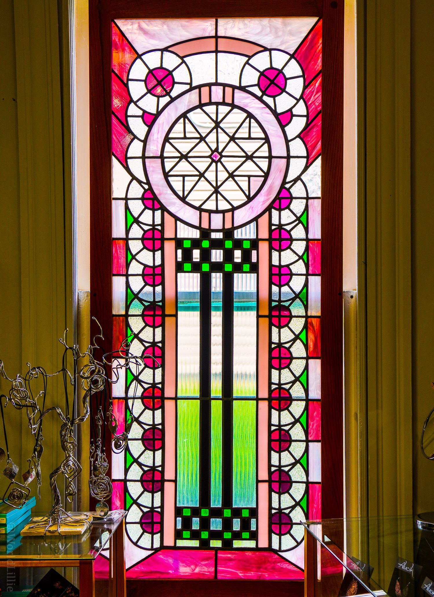 Mandy's stained glass windows are stunning.