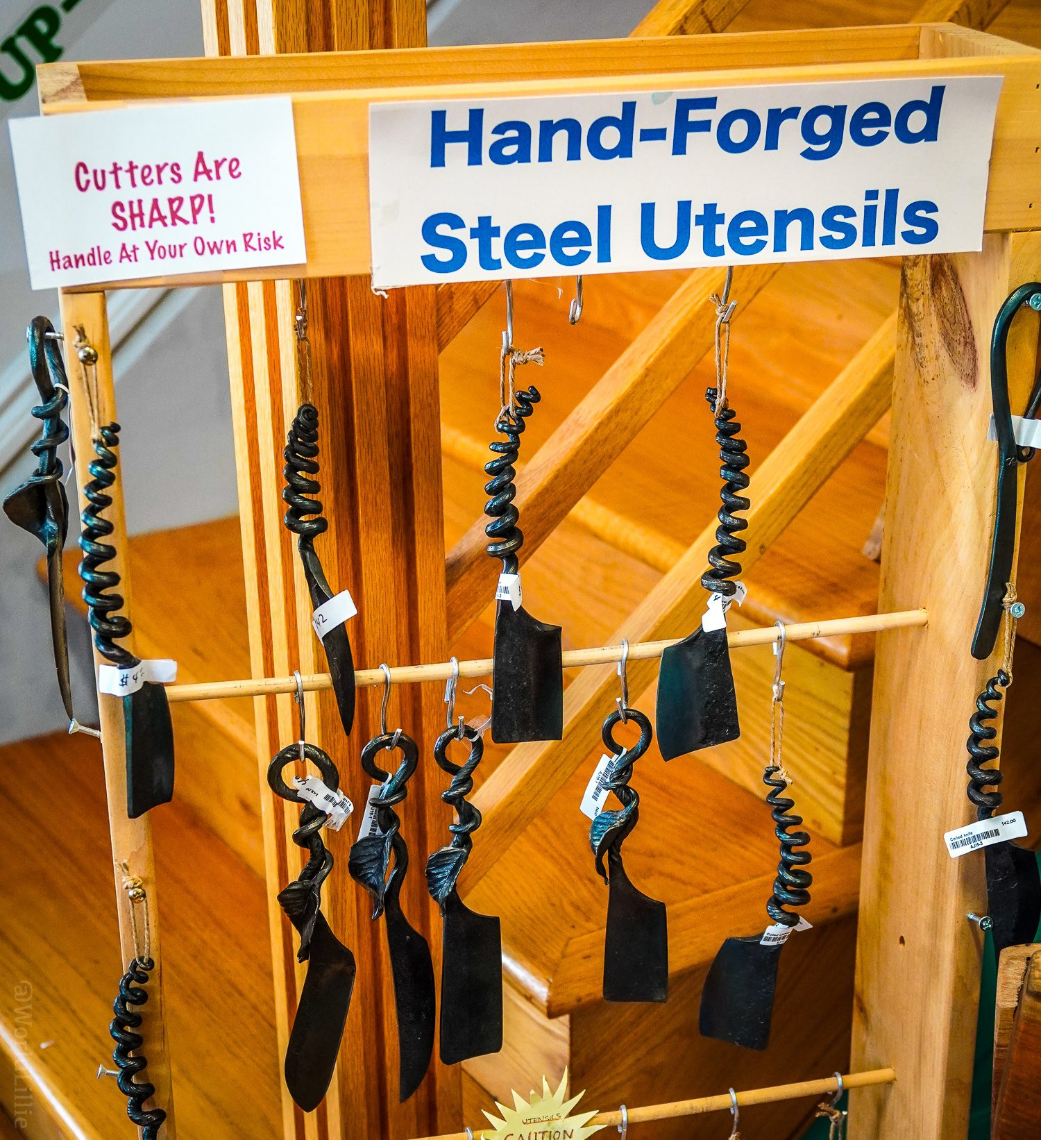 These hand-forged steel utensils are AWESOME.