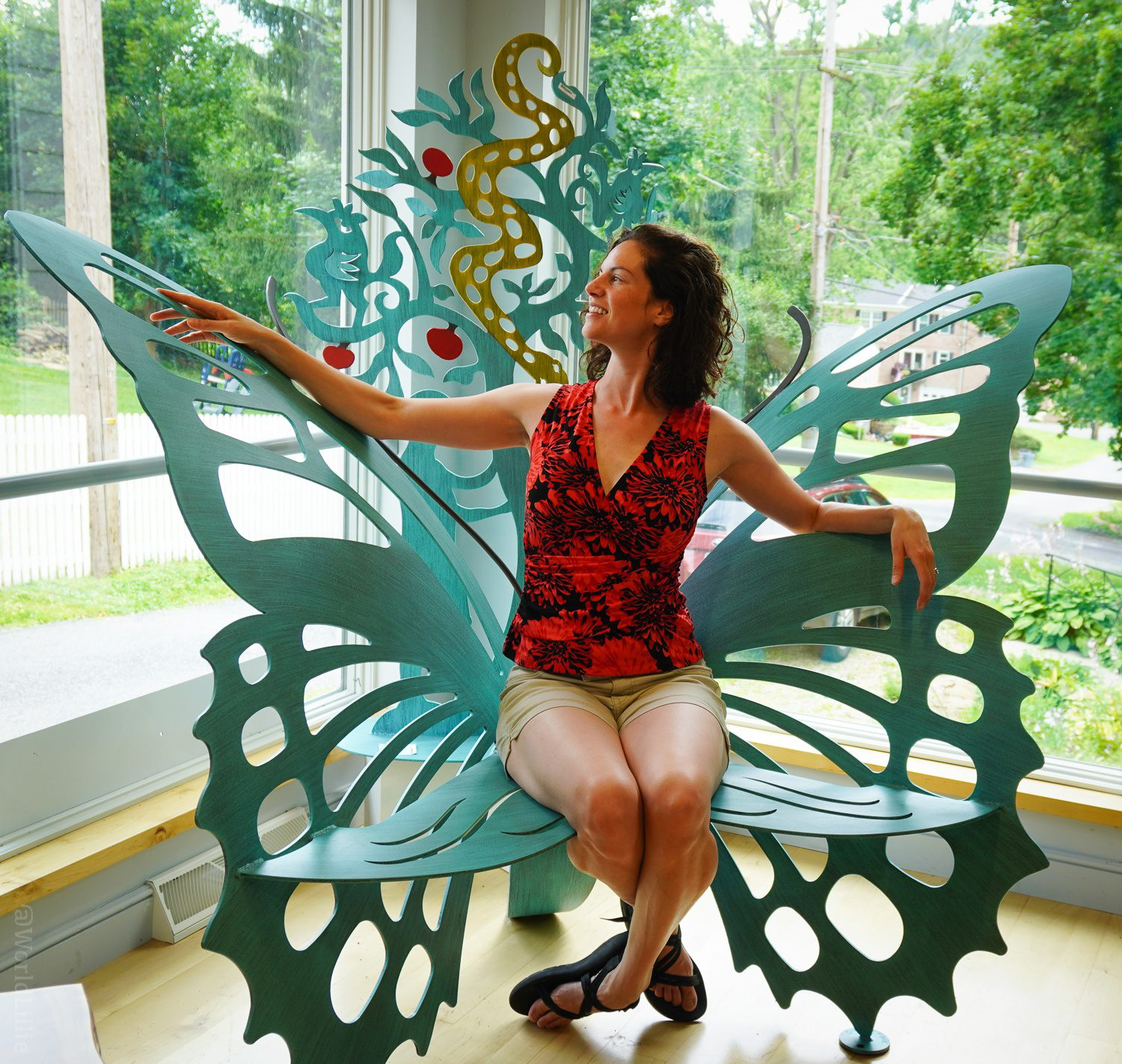Metal butterfly chair!