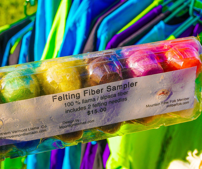 Llama fiber for felting in Vermont