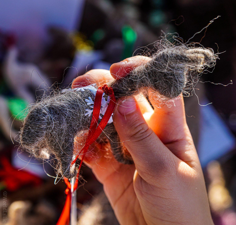 A llama doll made of llama hair. So meta!