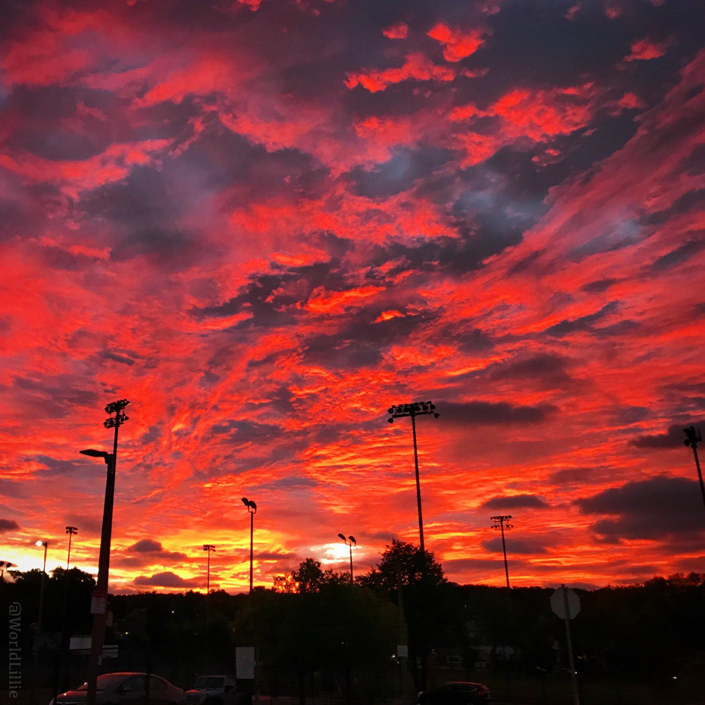 This sunrise was my reward for my 5:30am work alarm to go teach!