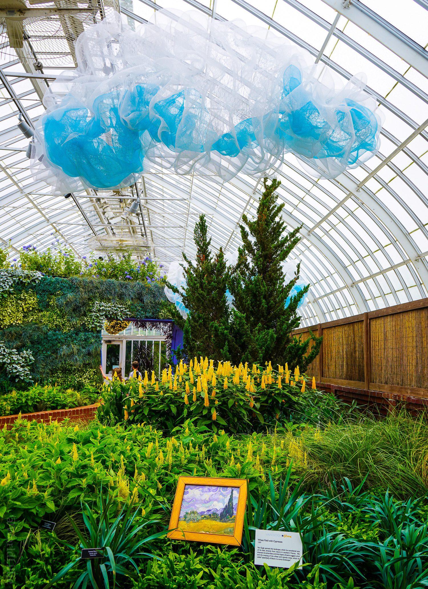 This Phipps exhibit was Van Gough gardens.