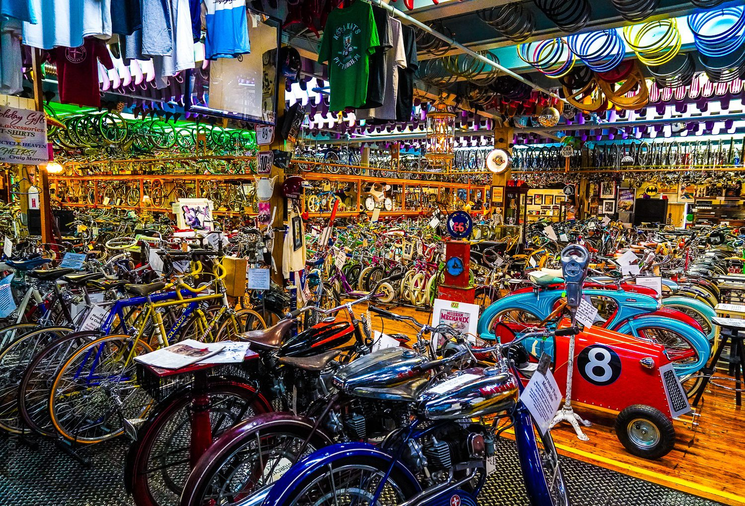 Where to start looking in this vast bicycle museum?
