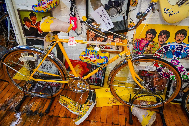 Historic, rare, and valuable Yellow Submarine bike!