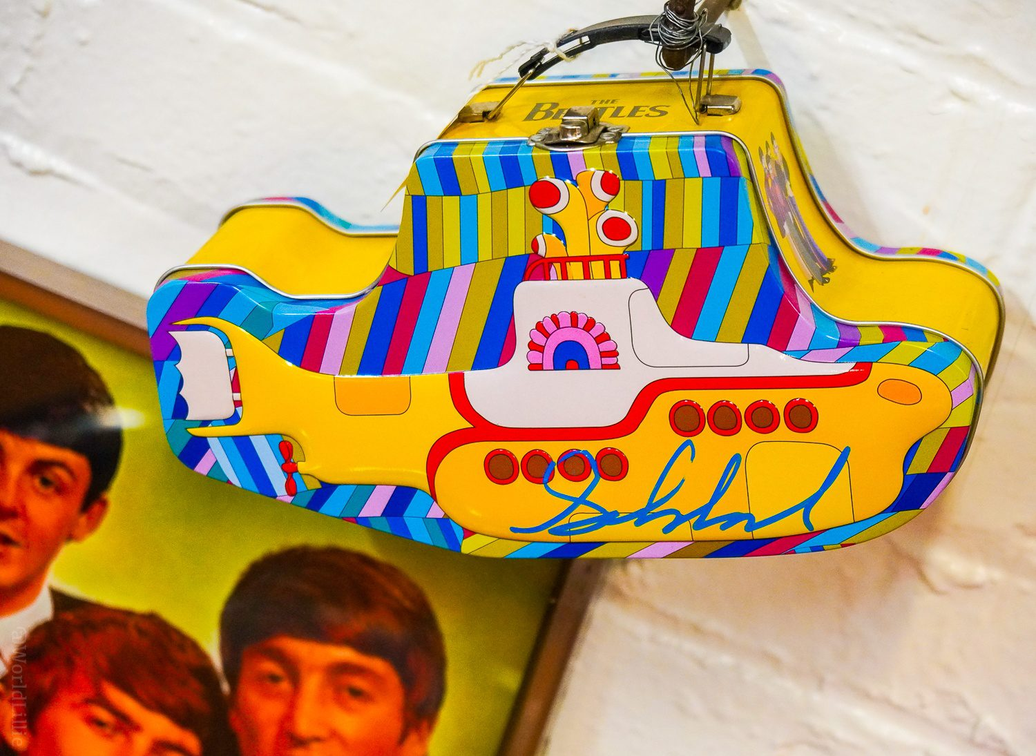 Rare Yellow Submarine lunch box for Beatles fans.