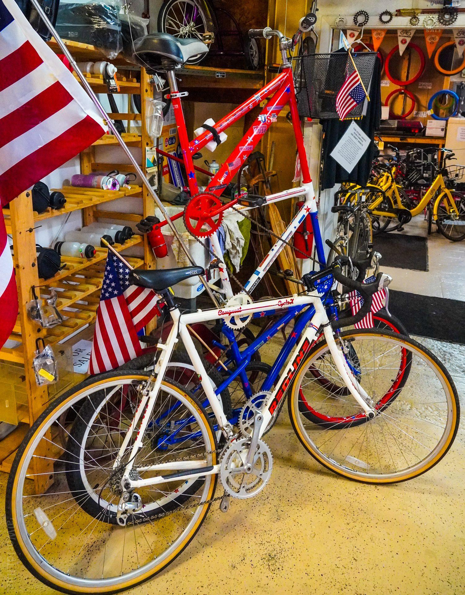 A triple-decker bicycle!