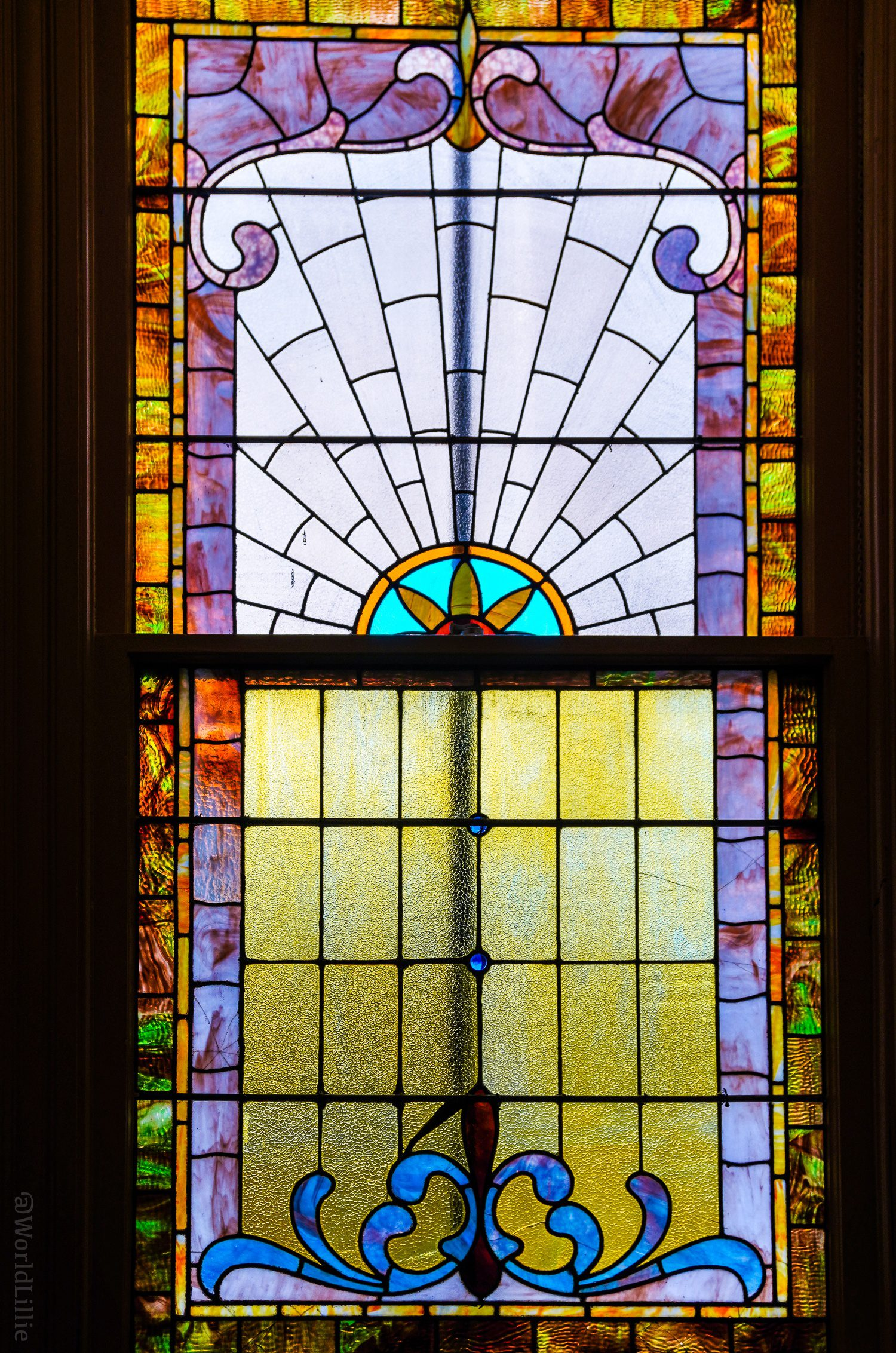 Stained glass is all over Ligonier.