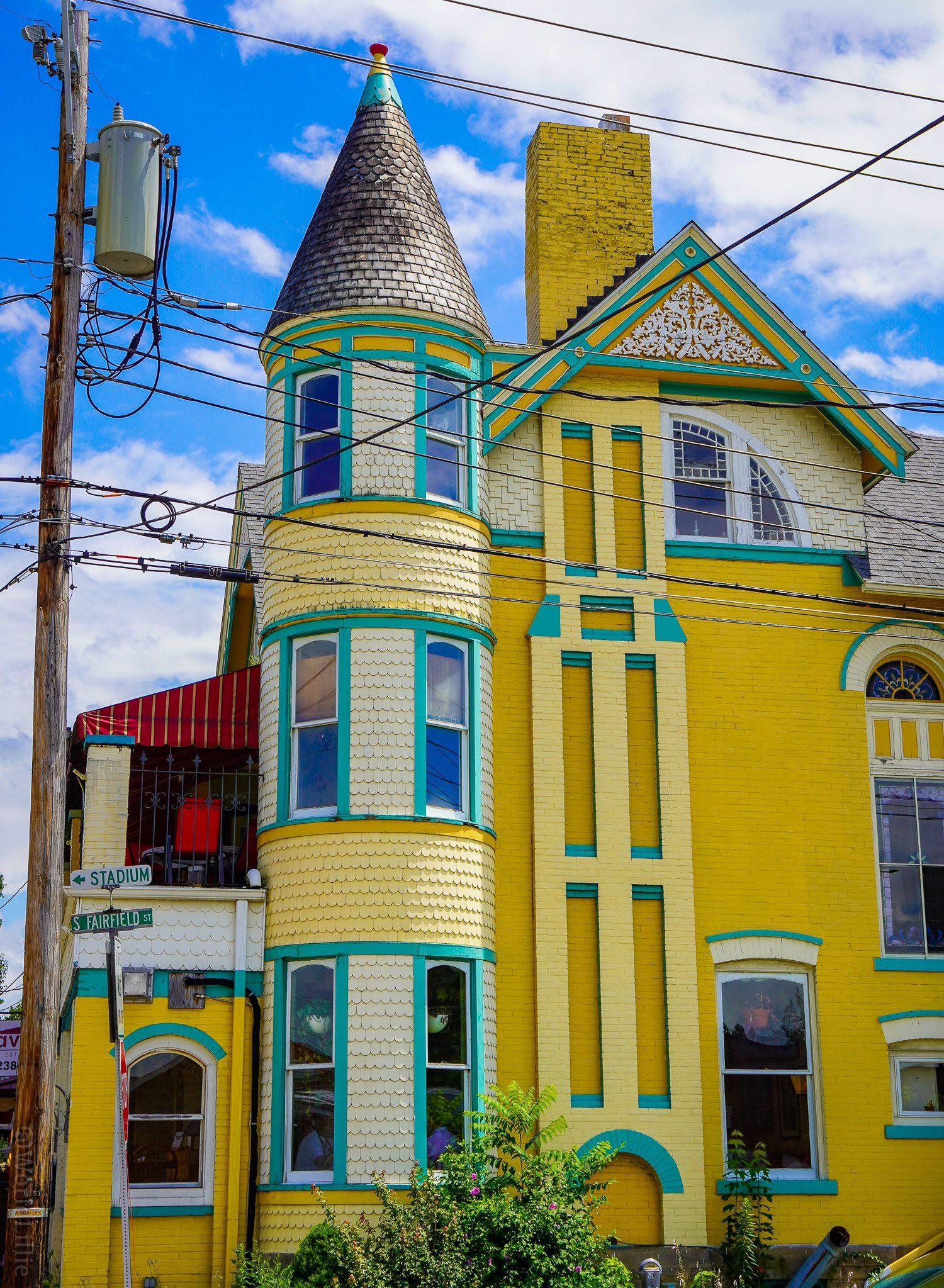 Ligonier's historic yellow building.