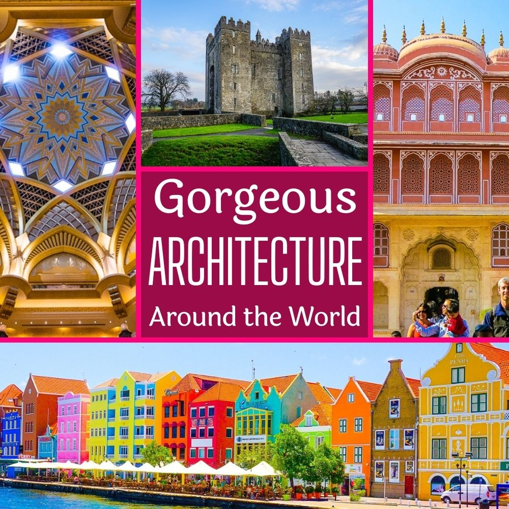 Famous architecture buildings around the world