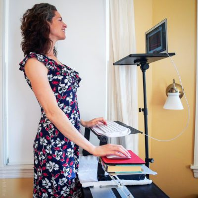 How to DIY a Sit Stand Desk (Tall Person Friendly!)