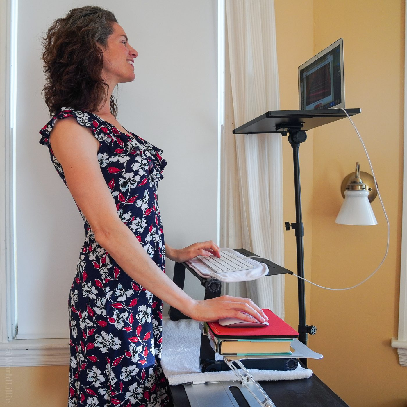 DIY standing desk for tall person