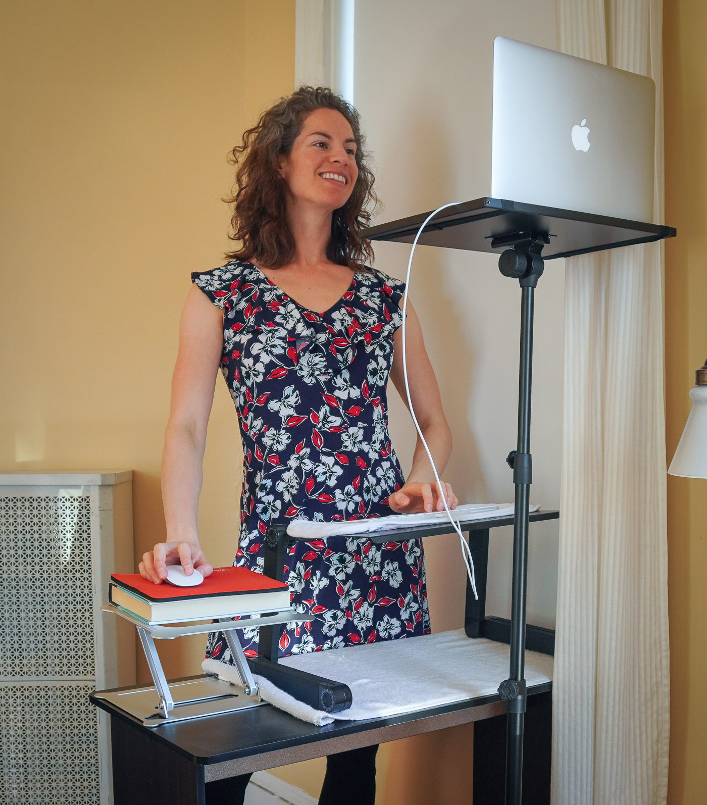 DIY standing desk for a tall person