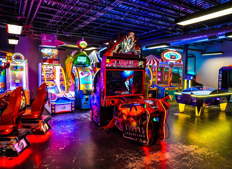 The huge arcade at FunZone 2.0.