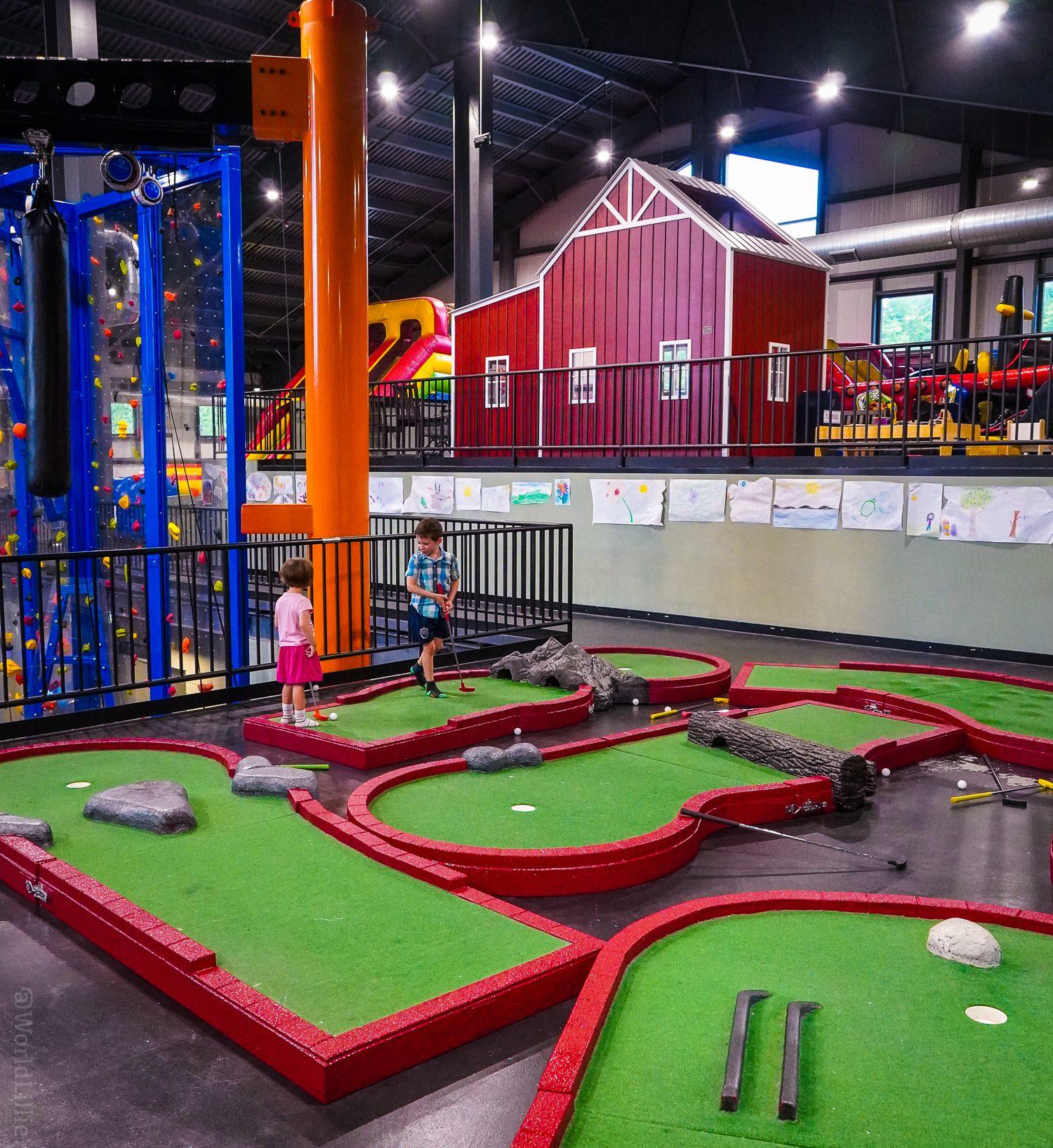 Indoor mini-golf at FunZone 2.0.