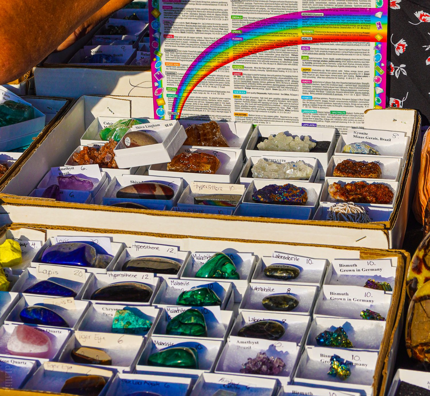 Gemstones and crystals at the VT Country Fair.