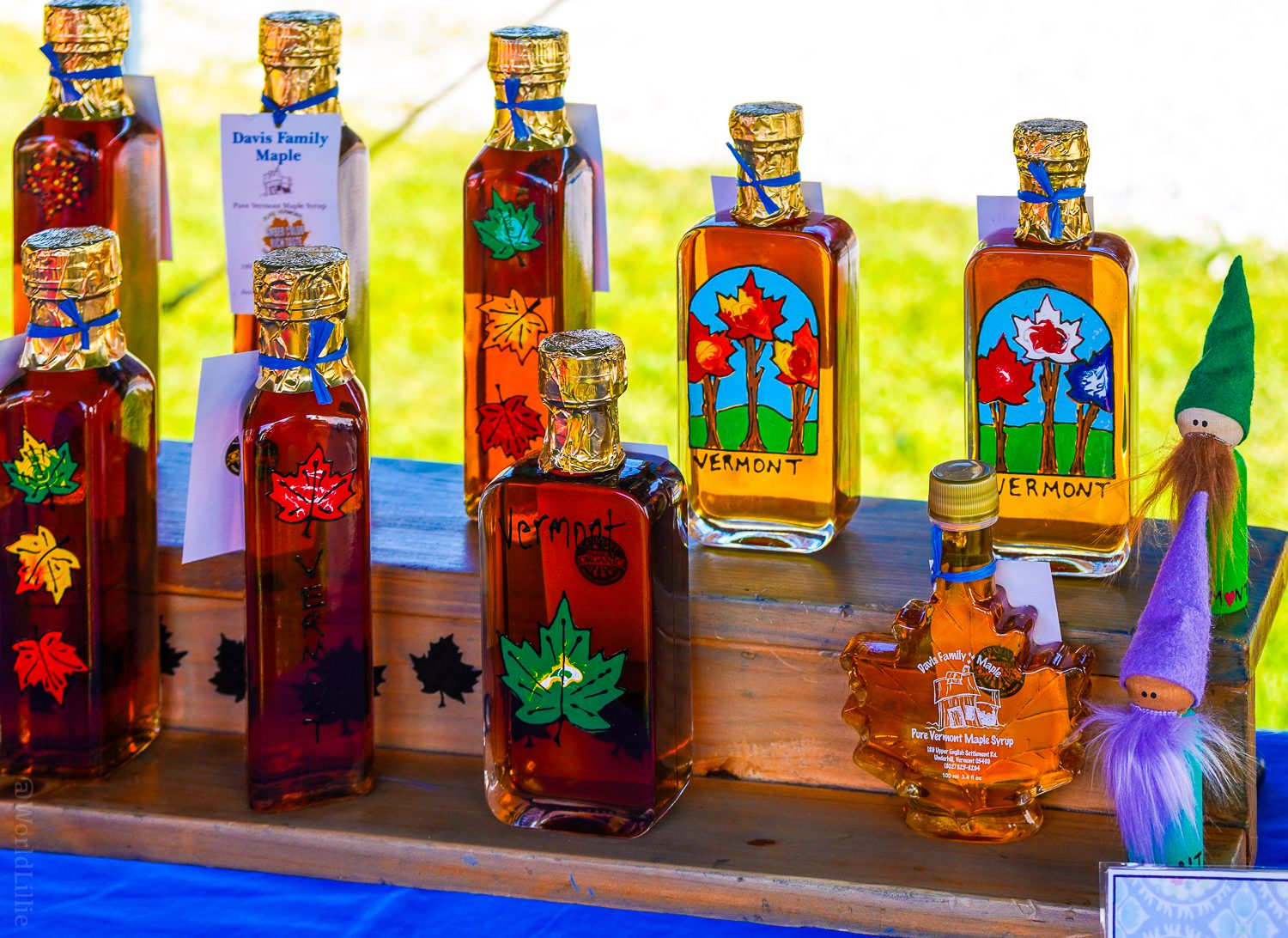 VT maple syrup at the Vermont Country Fair.