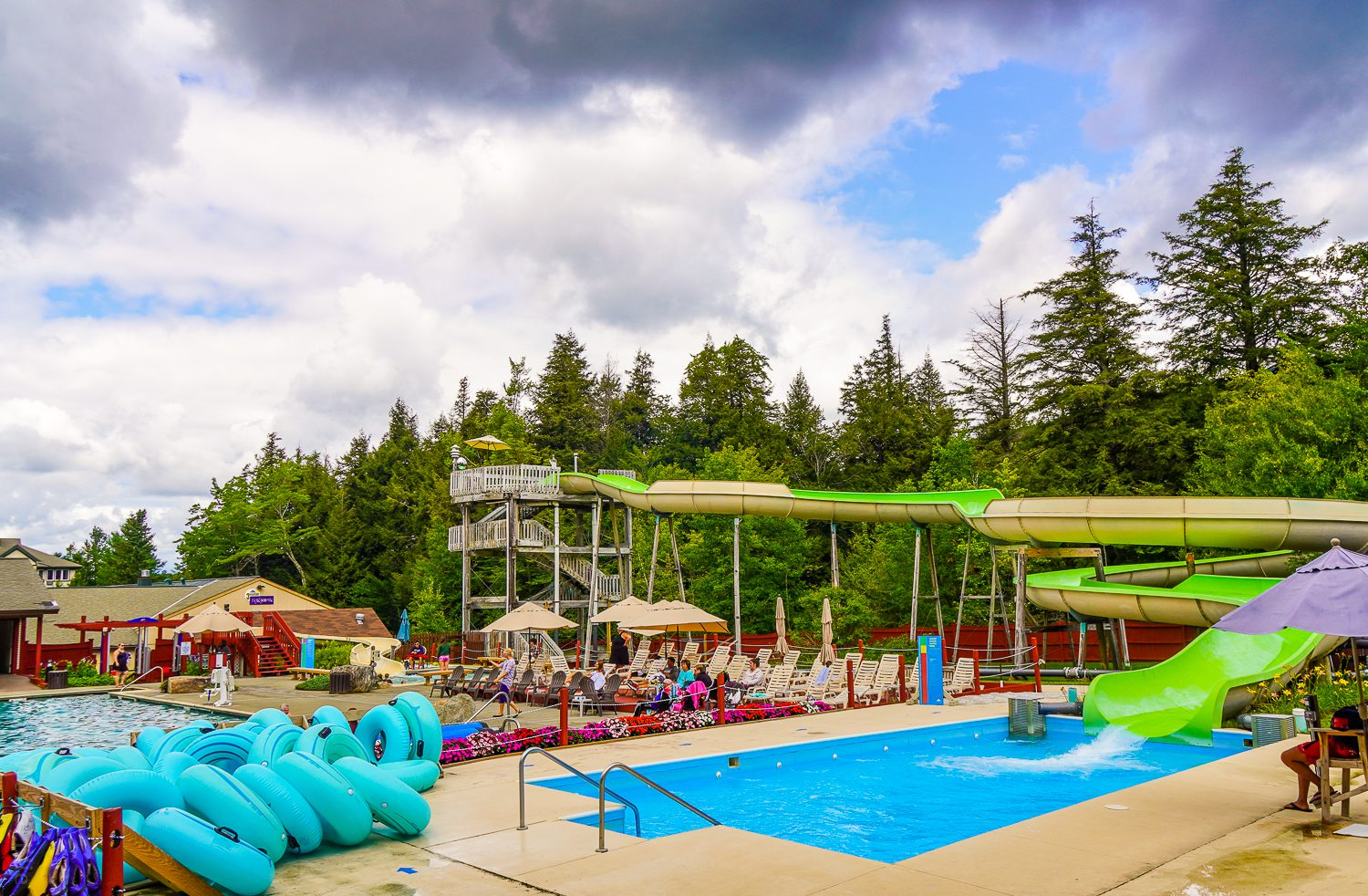 One of 3 giant waterslides at Smuggs.